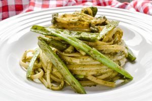 Linguini pasta with Genovese pesto sauce