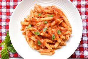 Penne pasta 'al pomodoro' (with Italian tomato sauce)