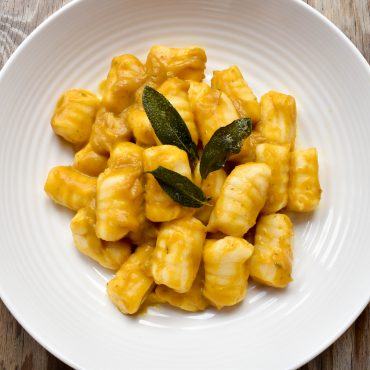 Potato gnocchi with pumpkin and sage