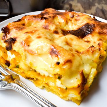 Pumpkin, sage and ricotta lasagne