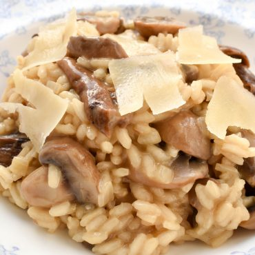 Risotto of dried porcini and mushrooms