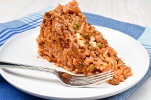 Timballo di riso (baked Italian rice) with ragù