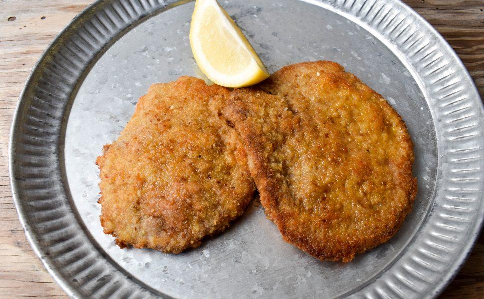 Cotoletta milanese (Milan-style schnitzel)