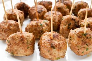Fried 'polpette di carne' (meatballs)