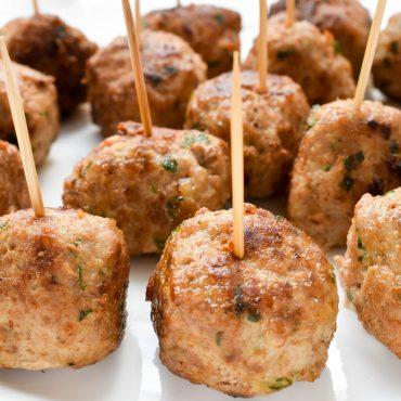 Fried 'polpette di carne' (meatballs)