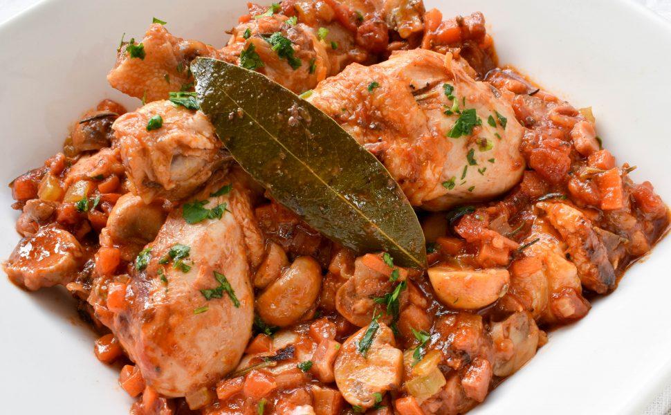 Chicken 'alla cacciatora' (hunter style)