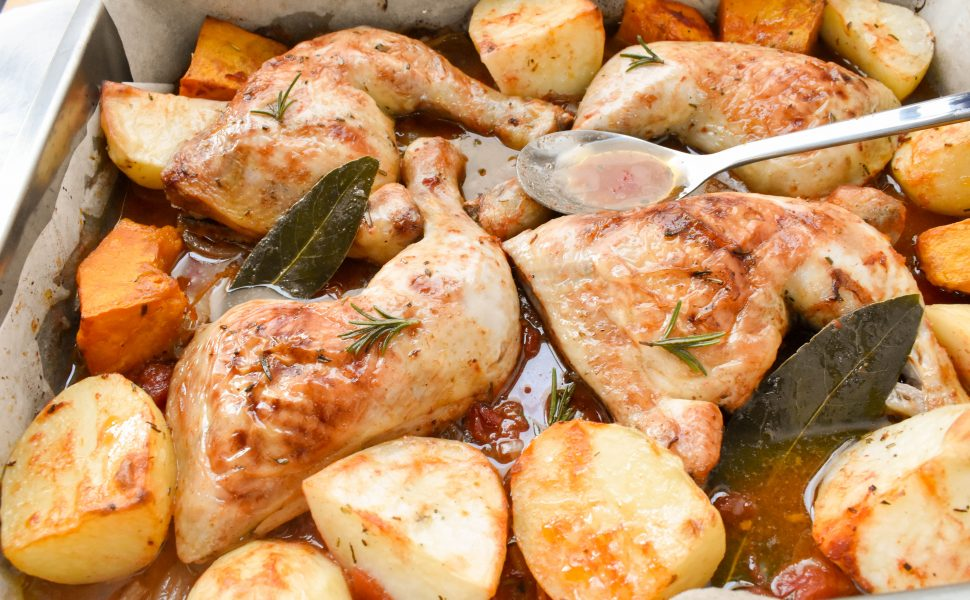 Chicken marylands 'al forno' (oven baked)