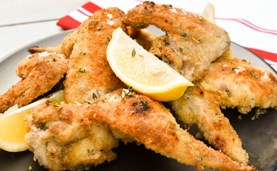 Italian-style crumbed chicken wings