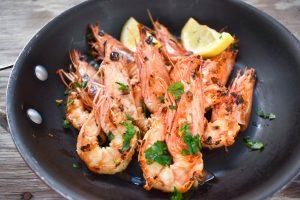 Garlic and chili prawns