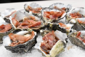 Oysters kilpatric with prosciutto