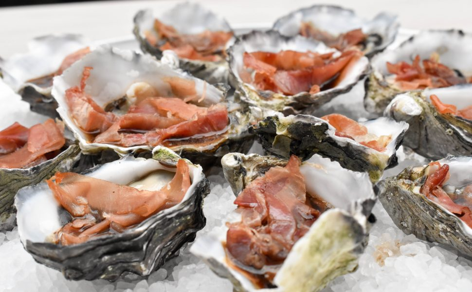 Oysters kilpatrick with prosciutto