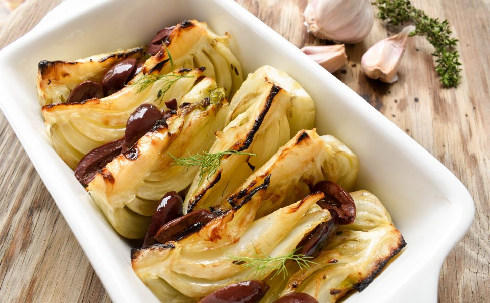 Braised fennel with olives