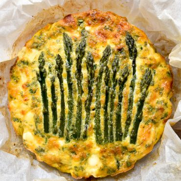 Frittata of asparagus and leek