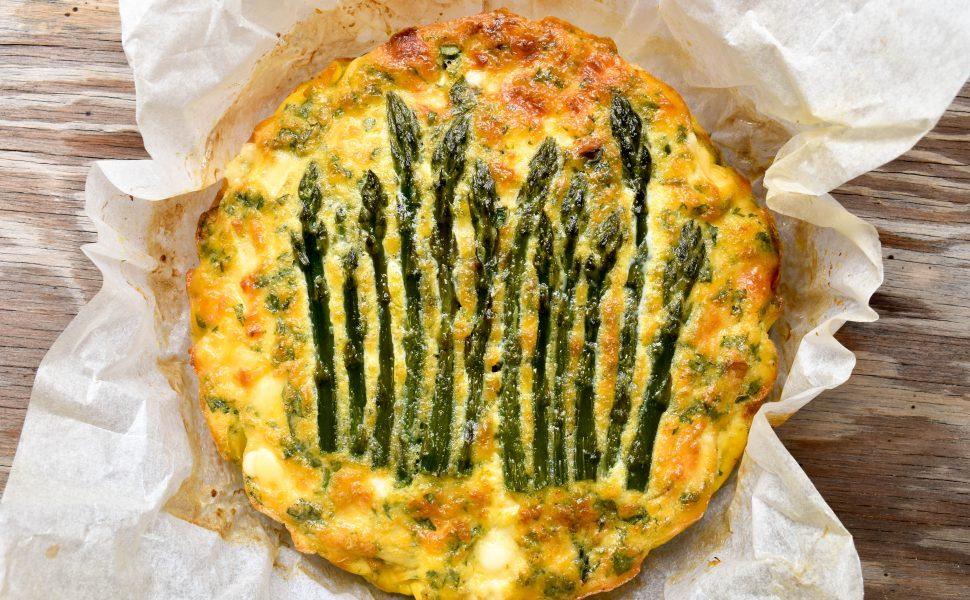 Frittata of asparagus and leek
