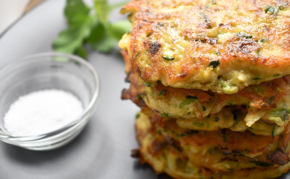 Frittelle (fritters) of zucchini (courgette) and potato
