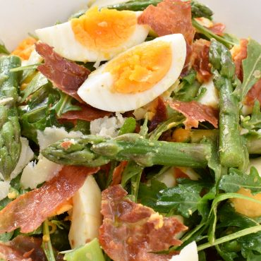 Insalata (salad) of asparagus, egg, prosciutto and parmigiano