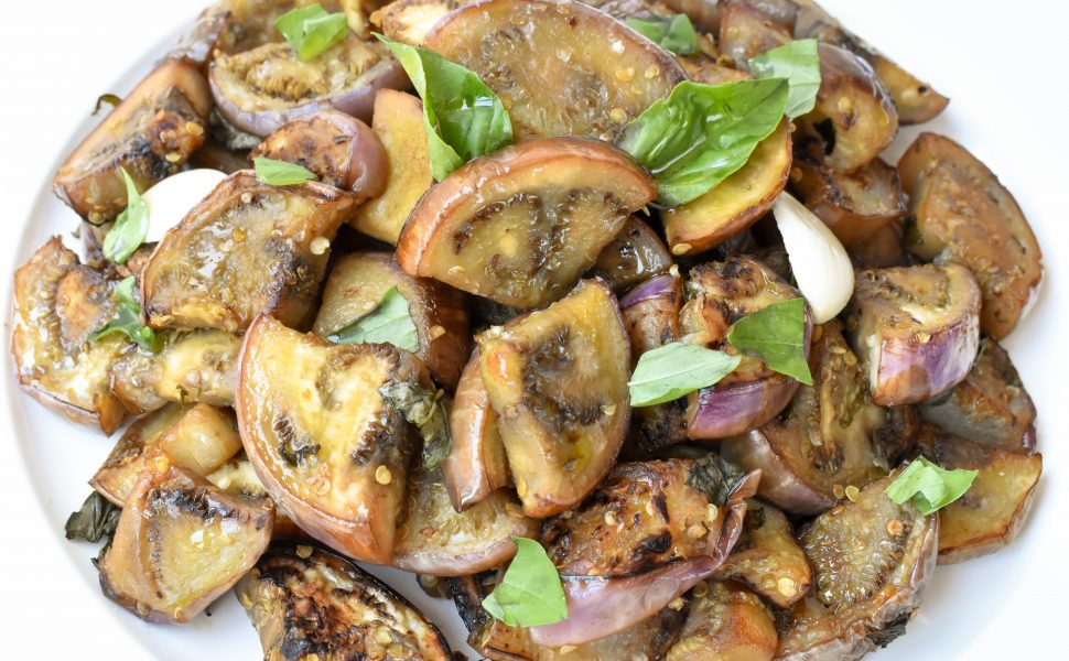 Melanzane in agrodolce (sweet and sour eggplant aubergine)
