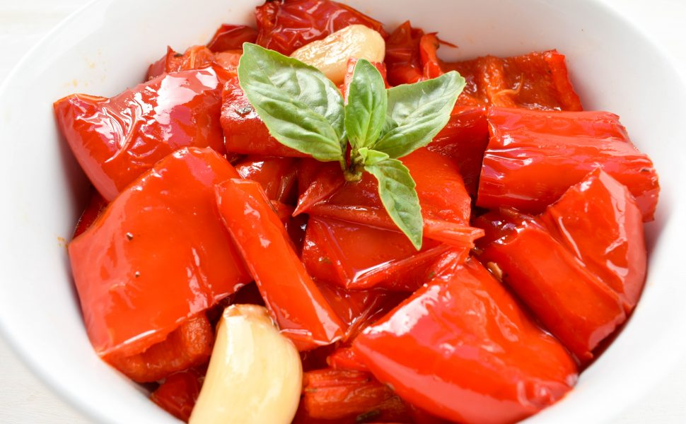 Peperoni al forno (roasted capsicum/peppers)