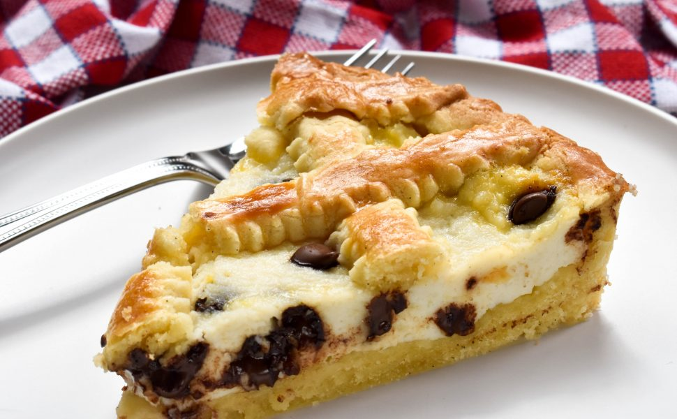Crostata of ricotta and chocolate