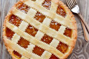 Sweet orange marmalade tart