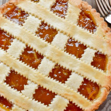 Crostata (tart) of sweet orange marmalade