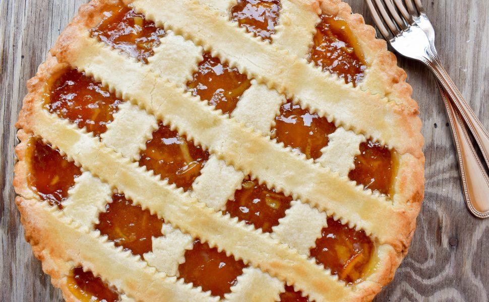 Crostata (tart) of sweet orange marmalade