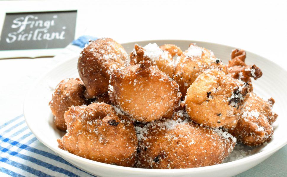 Sfingi Siciliani (Sicilian style doughnuts)