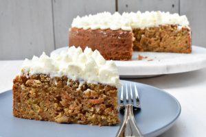 Carrot cake with mascarpone icing