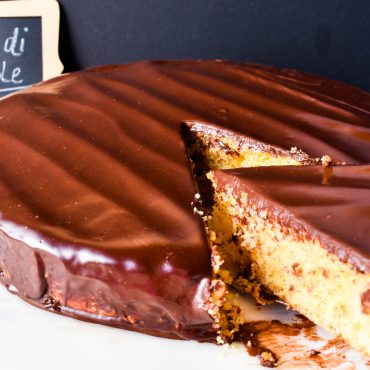 Torta di nocciole (hazelnut cake) with chocolate ganache