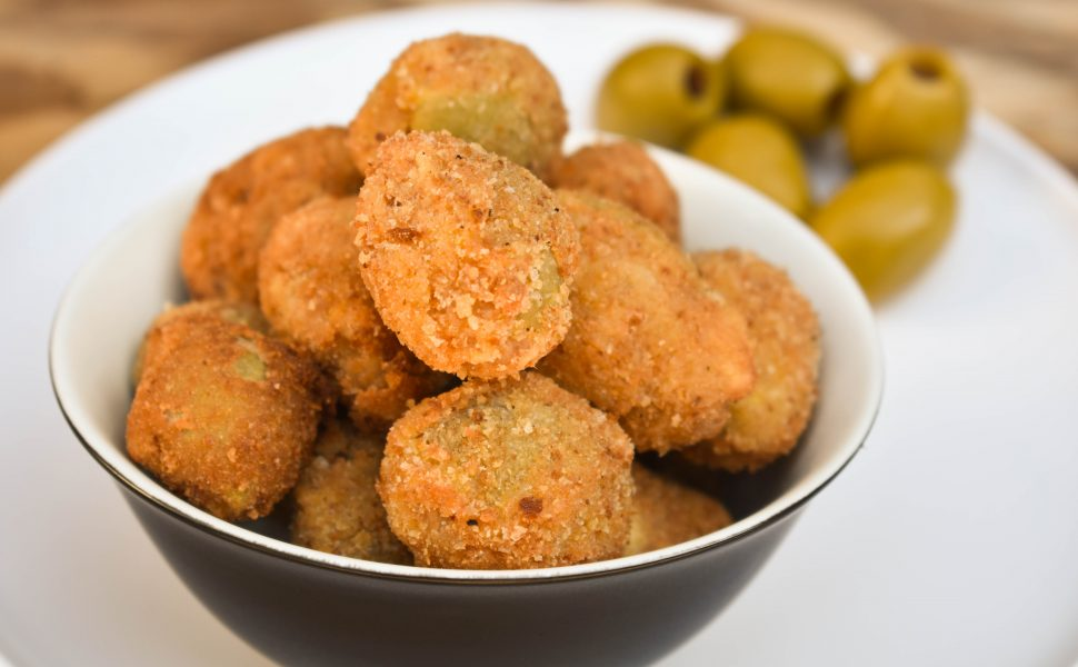 Olive Ascolane (meat stuffed olives)