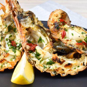 Garlic and chilli Morton Bay bugs (Bay lobster)