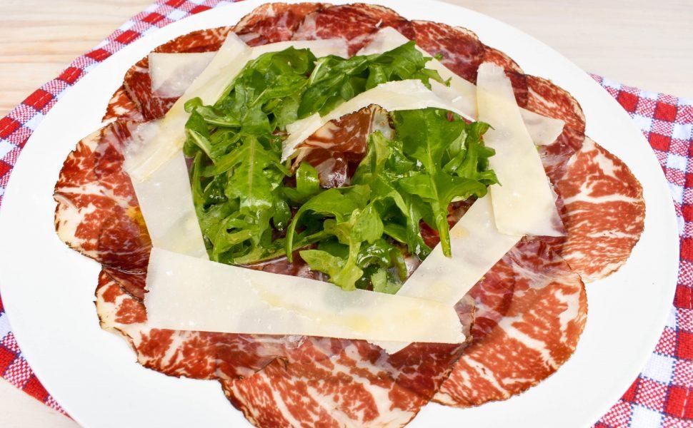 Carpaccio of Bresaola, Rocket and Parmigiano Reggiano
