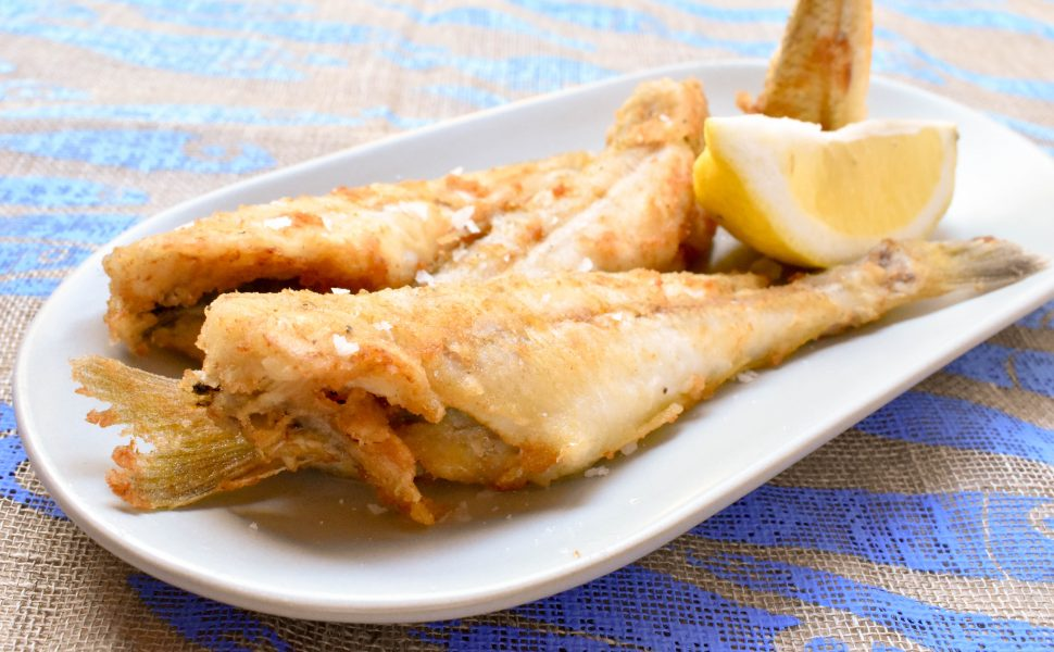 Pan fried silver whiting