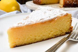 Torta Caprese Bianca (Gluten-free lemon and white chocolate cake)