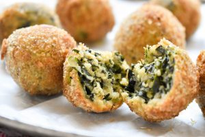 Spinach and ricotta balls