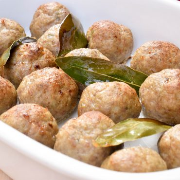Polpette di tacchino (baked turkey meatballs)