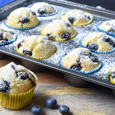 Lemon blueberry and ricotta muffins