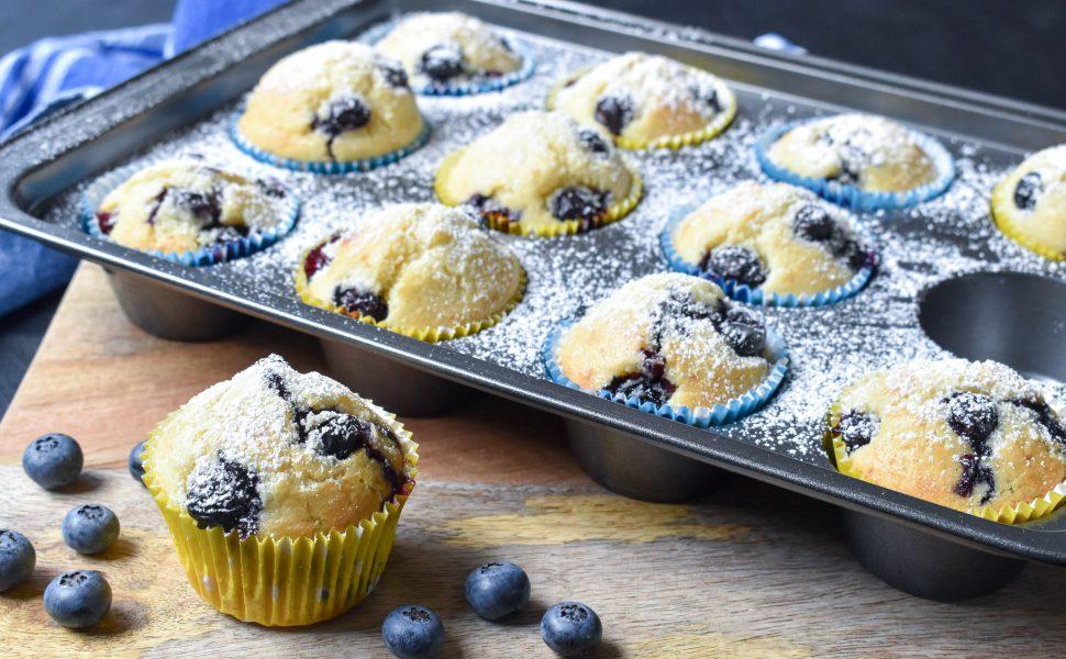 Lemon blueberry and ricotta muffins