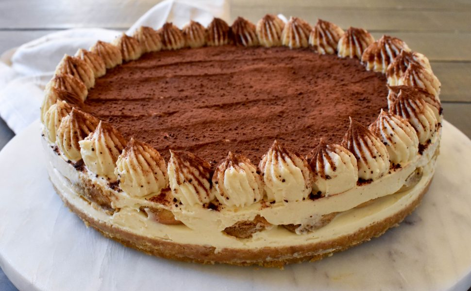 No-bake Tiramisù cheesecake