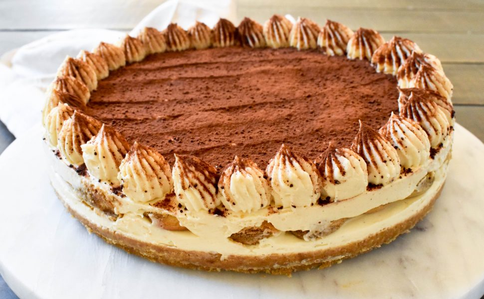 No-bake Tiramisù cheesecake
