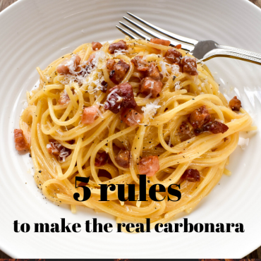 5 rules to make the real carbonara!