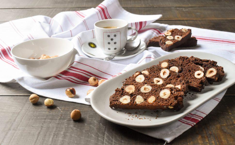 Chocolate and hazelnut cantucci