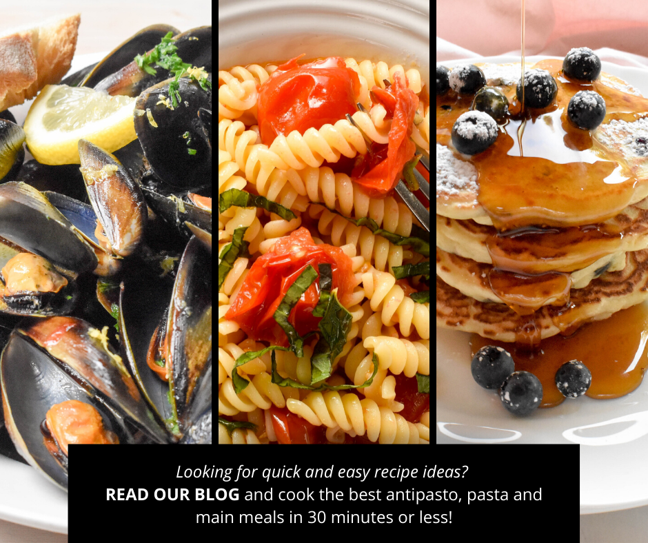 Looking for quick and easy recipe ideas? Cook the best antipasto, pasta and main meals in 30 minutes or less