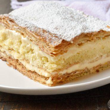 Italian vanilla slice (Diplomatica)