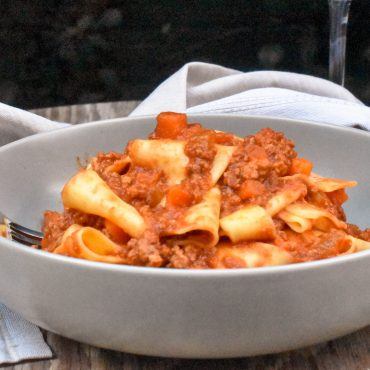 Pappardelle with authentic Bolognese sauce