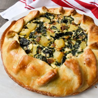 Savoury tart with Silver beet