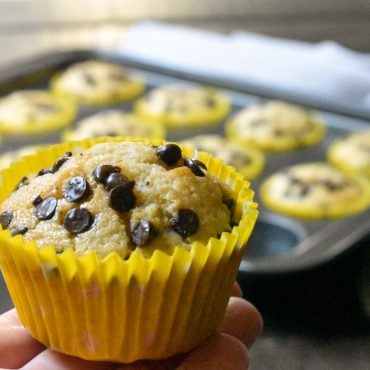 Easy banana and choc chip muffins