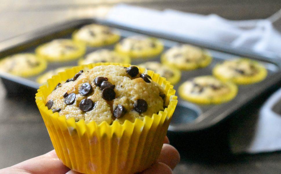 Easy banana and choc chip muffins