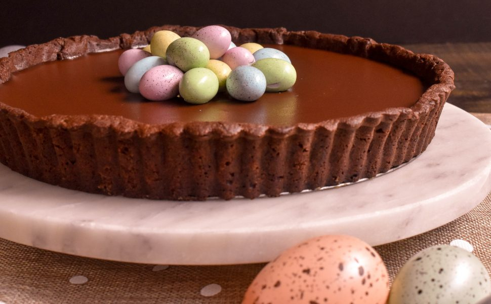 Chocolate Easter tart