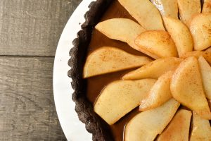 Chocolate and pear tart